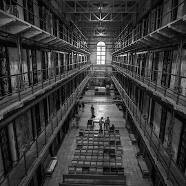 Missouri State Prison by Patrick Tenny - Buildings & Architecture Public & Historical ( black and white, prison, missouri, building, architecture )