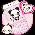 Pink Cute Panda Keyboard Theme Icon