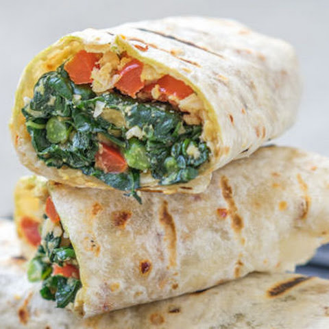Grilled Kale Wraps With Chunky Homemade Hummus
