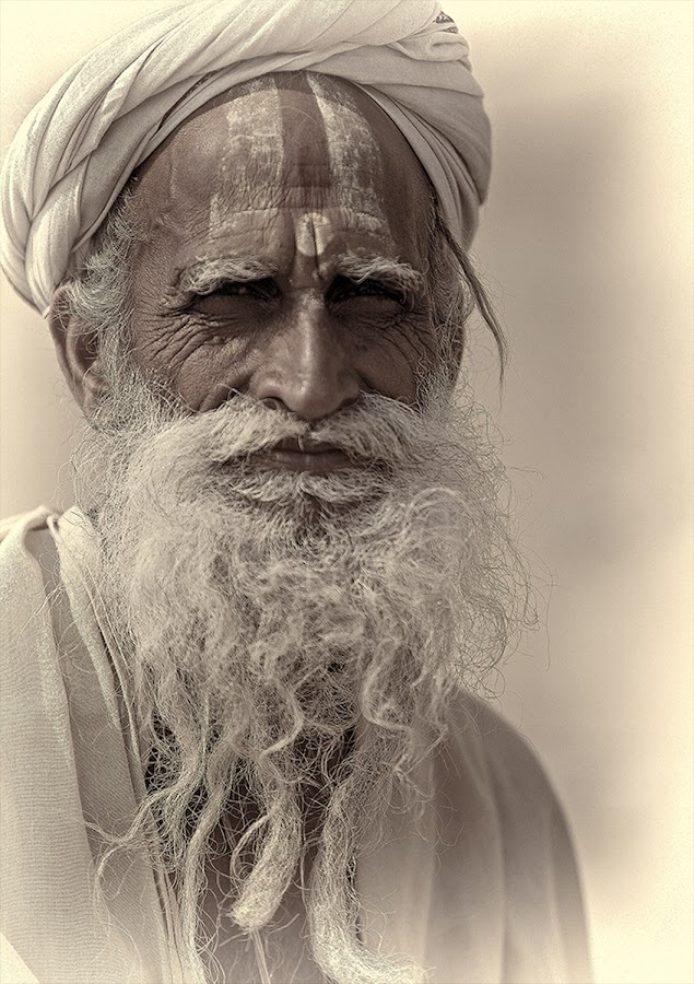 The Sadhu by Jack van der Heijden - People Portraits of Men ( india )