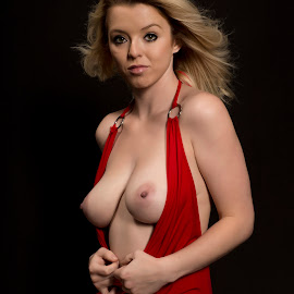 Red Dress by Kens Yeaglin - Nudes & Boudoir Artistic Nude ( studio, nude, boudoir, caliray, red dress )