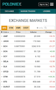 POLONIEX CRYPTOCURRENCY EXCHANGE screenshot for Android