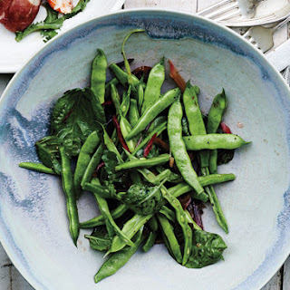 Runner Beans with Swiss Chard Stems and Basil