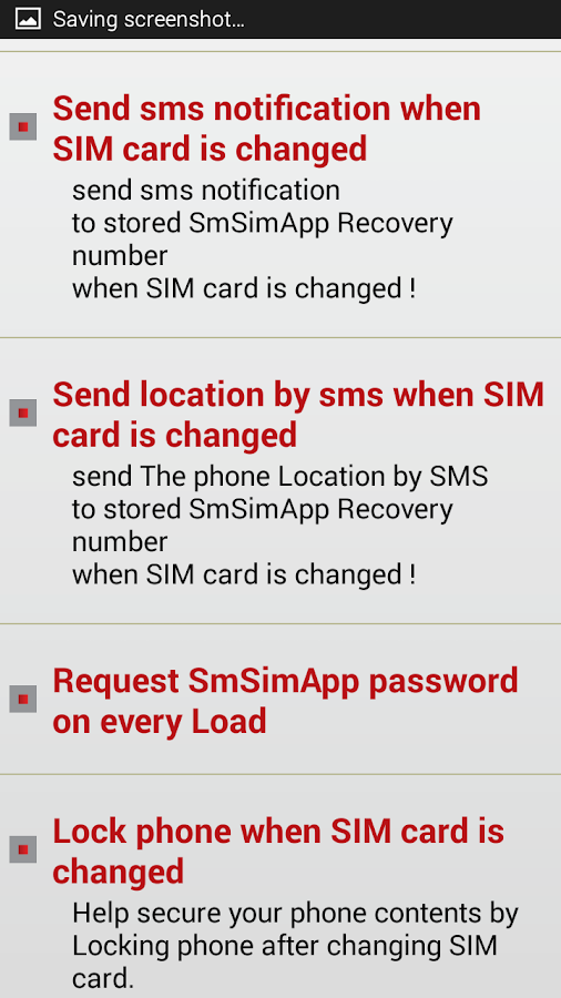 SmSimApp Anti Theft Screenshot 7