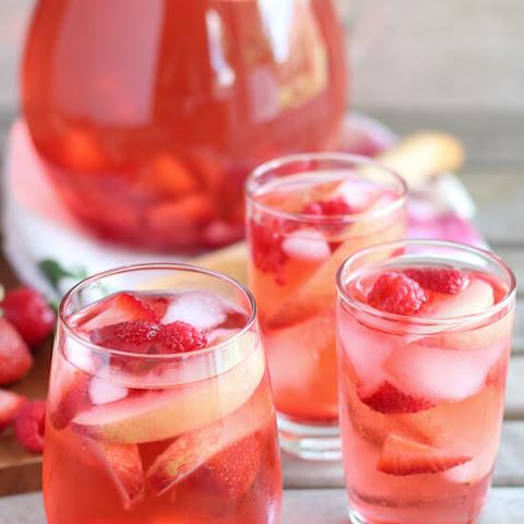 Strawberry Peach Sparkling Rosé Sangria