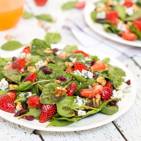 Strawberry Walnut Salad with Poppy Seed Dressing
