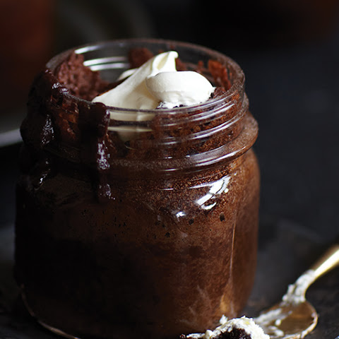 Spiked Chocolate Rum Cake in a Jar
