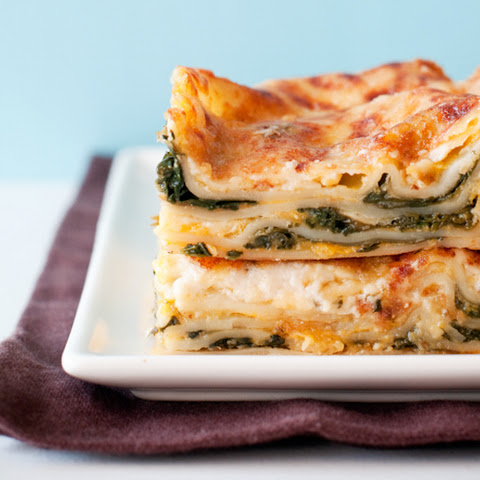 Butternut Squash and Spinach Lasagna adapted from Everyday Italian