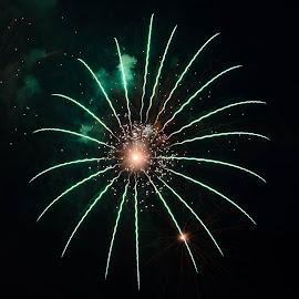 Universe by Cory Bohnenkamp - Abstract Fire & Fireworks ( abstract, canada, canada day, fireworks, vancouver, universe, fire )