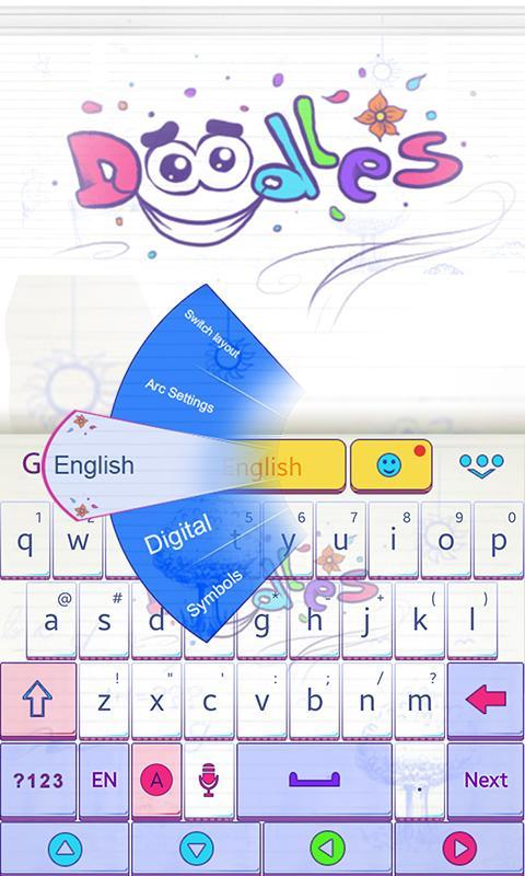Doodles-GO-Keyboard-Theme 8