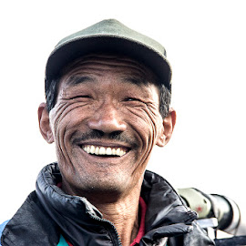 Happy Man by Amit Aggarwal - People Portraits of Men ( laughing, cap, happy, male, india, men, boy, portrait, man, darjeeling )