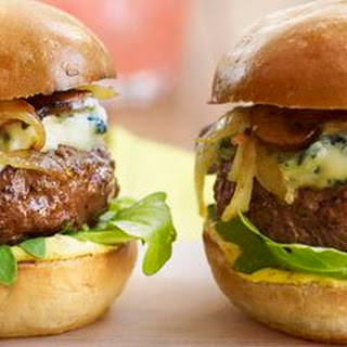 Steak-House Sliders with Mushrooms and Blue Cheese