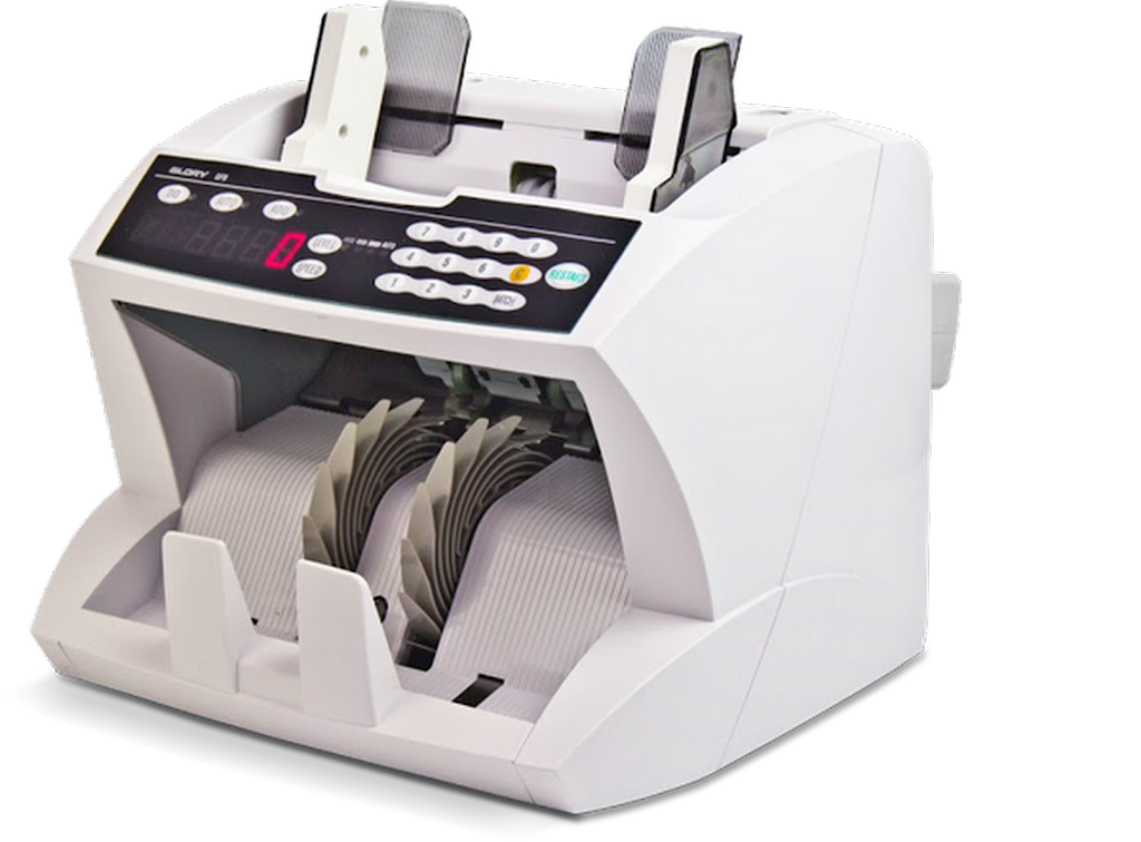 Counting machine for bills and barcode / meal tickets