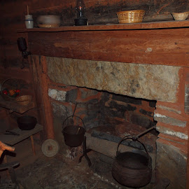 Sequoyah's Cabin in Oklahoma by Chuck Cornell - Buildings & Architecture Other Interior (  )