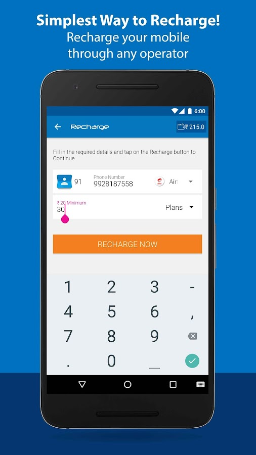 Free Mobile Recharge Screenshot 4