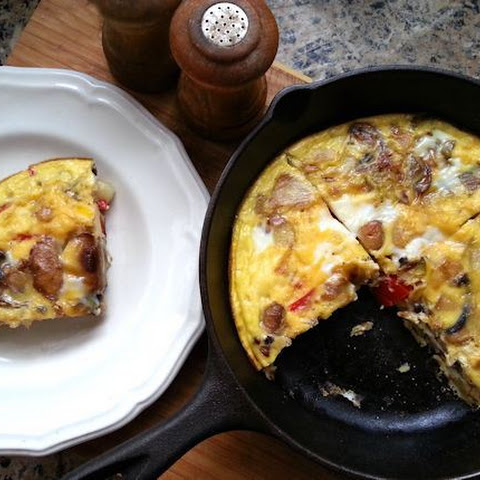 Dairy-Free Mushroom and Red Pepper Frittata