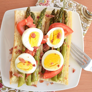 Open Faced Egg Asparagus Sandwich