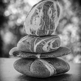 Sassi - Stones by Salvatore Amelia - Black & White Abstract