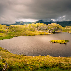 by Darrell Evans - Landscapes Mountains & Hills ( clouds, countryside, water, hills, uk, cumbria, tarn, d200 )