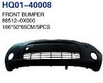 I10 2007 Bumper, Front Bumper, Front Bumper Frame, Front Bumper Grille, Front Bumper Support, Rear Bumper, Rear Bumper Frame, Rear Bumper Support (86512-0X000, 86522-0X200, 86530-0X100, 86630-0X000, 86522-0X000)