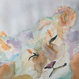 lion by Jeanne Knoch - Painting All Painting ( photo stream )