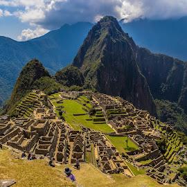Machu Picchu  by Alexandre Rios - Landscapes Mountains & Hills ( photooftheday, civilization, peru, machu picchu, travel photography, picoftheday, mountain, bestoftheday, daylight, lost city, south america, hills, cityscape, sacred, landscape, photography )
