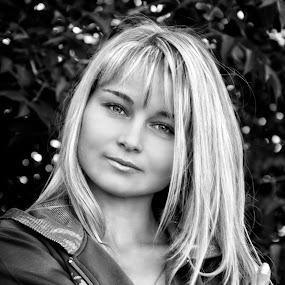 Irina by Sergey Kuznetsov - Black & White Portraits & People ( woman, beauty, model, blonde, girl )