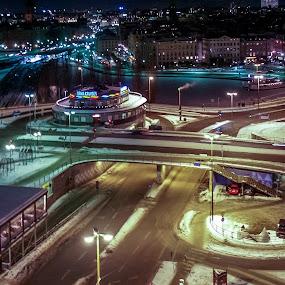 Stockholm by Elena Lashneva - City,  Street & Park  Night