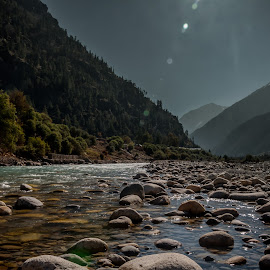 Baspa valley by Akashneel Banerjee - Landscapes Travel ( water, nature, stone, reflections, valley )