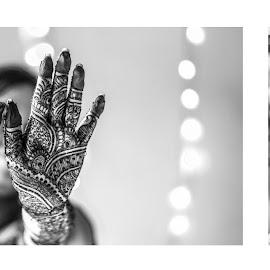 mehendi collage by Somdev Sengupta - Wedding Bride