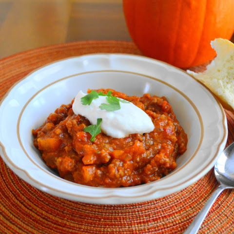 Meaty Pumpkin Chili
