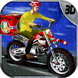 PIZZA BIKER RUSH - 3D RACING