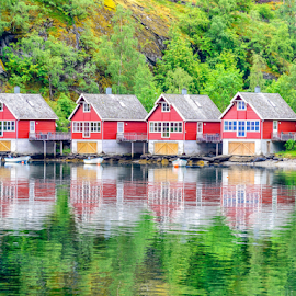 Summer cottages by Giancarlo Bisone - Buildings & Architecture Homes ( flaam, summer, fjord, norway )