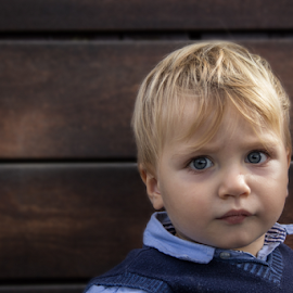 Blonde babie by Gianluca Presto - Babies & Children Child Portraits ( baby portrait, blonde, babie, little, blue eyes, baby, cute, baby photography, portrait,  )