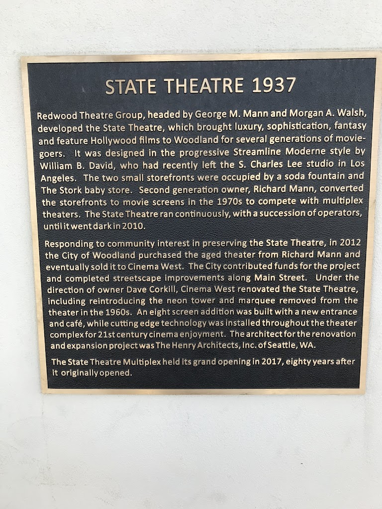 STATE THEATRE 1937 Redwood Theatre Group, headed by George M. Mann and Morgan A. Walsh, developed the State Theatre, which brought luxury, sophistication, fantasy and feature Hollywood films to ...