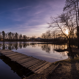 Bobovek lake by Kevin Lozar - Landscapes Sunsets & Sunrises ( sky, sunset, slovenia, lake, nikon, bobovek )