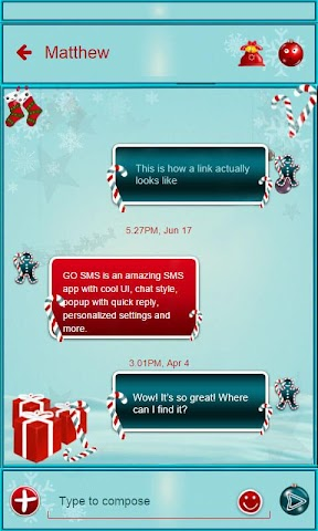android Christmas Gifts GO SMS Screenshot 3