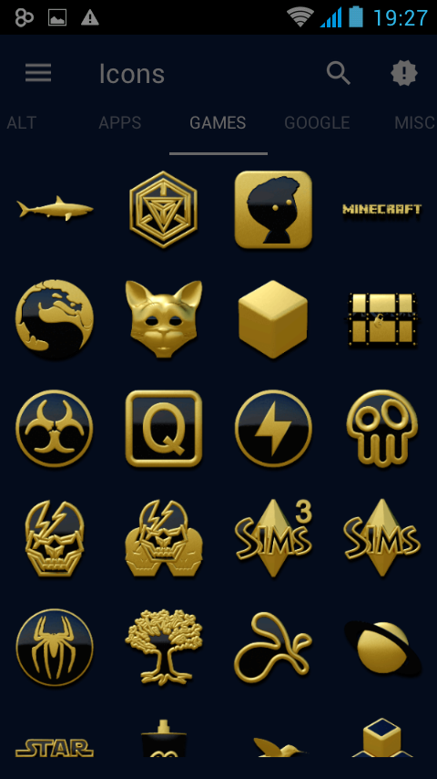 Babylon gold blue ICON PACK Screenshot 7
