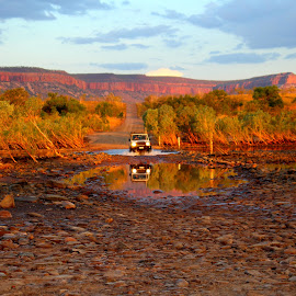 Austrailan outback by Camilla Uddgren - Landscapes Mountains & Hills ( water, hills, mountains, nature, sunset, australia, kimberley, outback, sunrise )