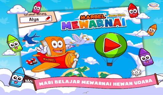 Marbel Mewarnai Hewan Udara- screenshot thumbnail