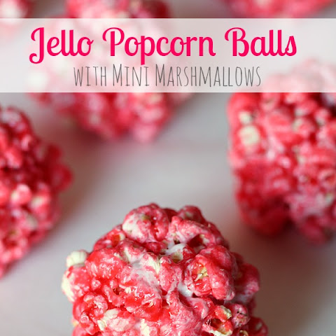 Jello Popcorn Balls with Mini Marshmallows
