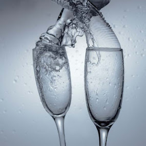 TWO GLASS by Endy Wiratama - Artistic Objects Glass ( champagne glasses )