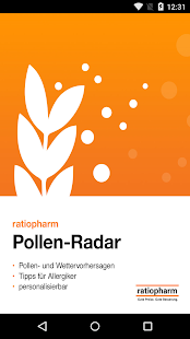 ratiopharm Pollen-Radar Screenshot