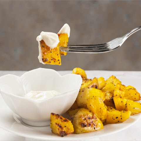 Roasted Golden Beets with Wasabi Cream Sauce