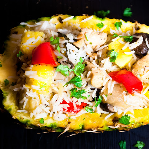 30 Minute Pineapple Basil Chicken Rice