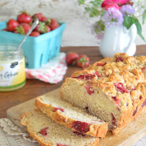 Strawberry Quick Bread, vegan