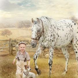 by Kathryn Potempski - Digital Art Animals ( horse, art, digital art, digital drawing, dog, boy, people, photography )