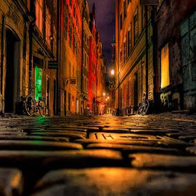 by John Aavitsland - City,  Street & Park  Night ( city at night, street at night, park at night, nightlife, night life, nighttime in the city )