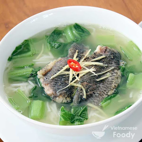 Gingery Mustard Greens and Tilapia Soup (Canh Cai Ca Ro)