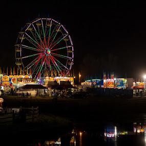 That's Fair by Randell Whitworth - City,  Street & Park  Amusement Parks ( amusement park, nc, concord, reflections, fair )